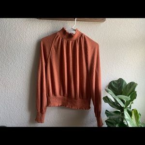 Free people coral turtle neck